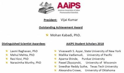 AAiPS 2018 President & Awardees