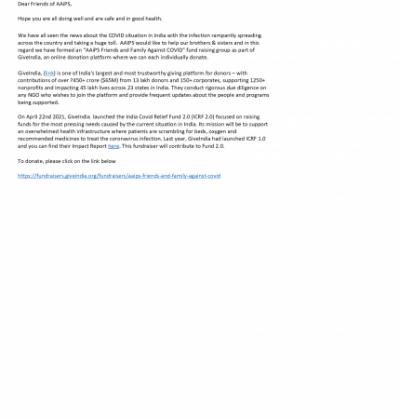 AAiPS COVID Donation Platform