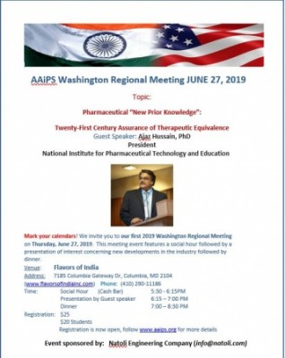 AAiPS Washington Chapter Meeting JUNE 27, 2019