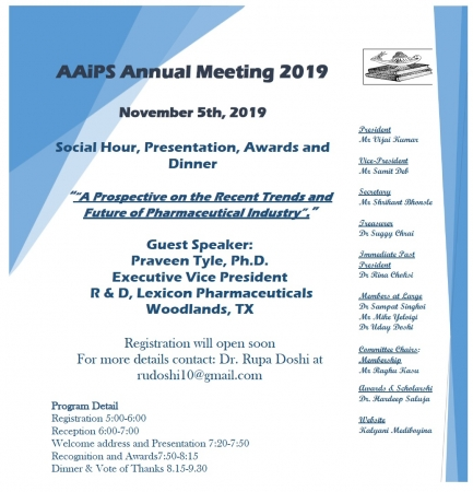 AAiPS Annual Meeting 2019